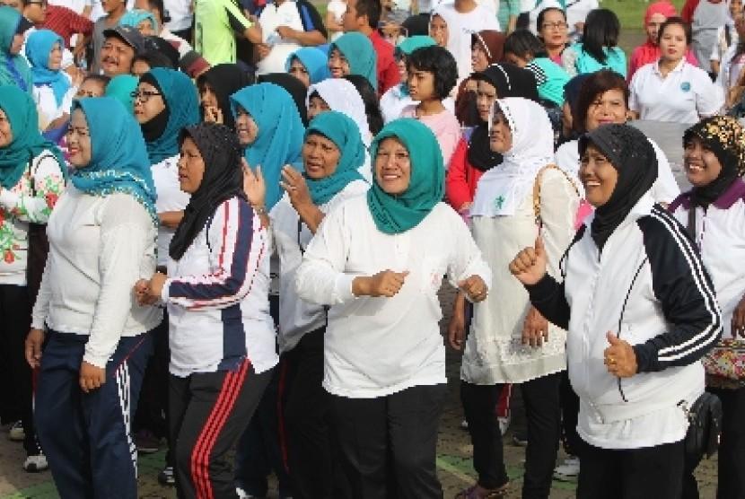 Ratusan ibu ikut senam demi jantung sehat / Ilustrasi