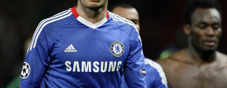 Reaksi Frank Lampard menerima kekalahan timnya dan  tersingkir dari Liga Champions.