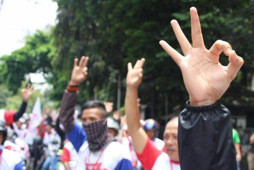 Relawan Anies Baswedan-Sandiaga Uno (ilustrasi).