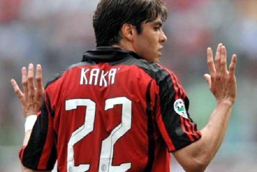 Ricardo Kaka saat masih berkostum AC Milan.