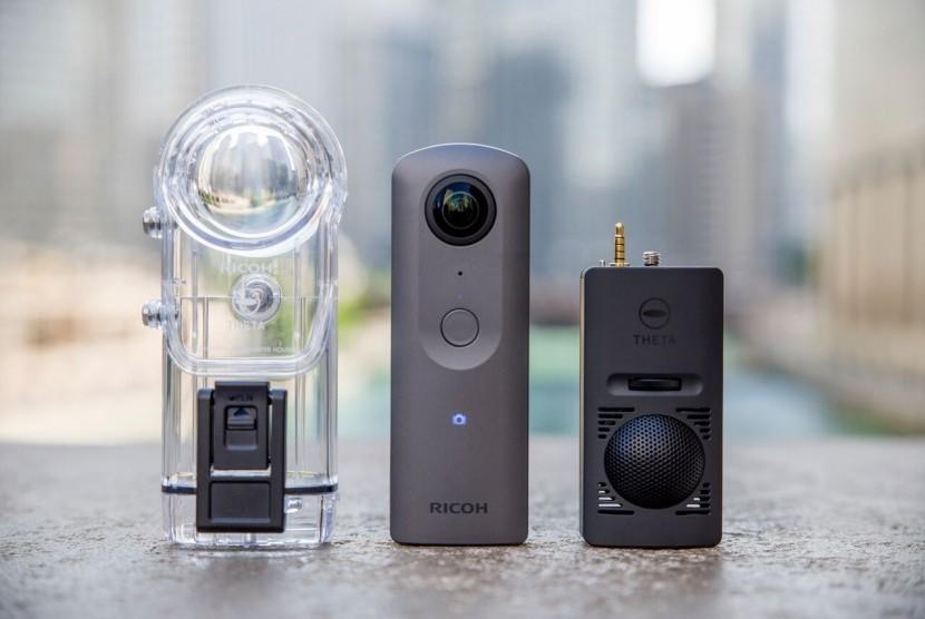 RICOH THETA V, Kamera 360 Derajat 4K Mudahkan Perkembangan VR.