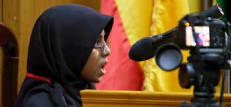 Rifdha, salah satu hafidz cilik dan subjek dalam film Koran by Heart karya sutradara Greg Barker