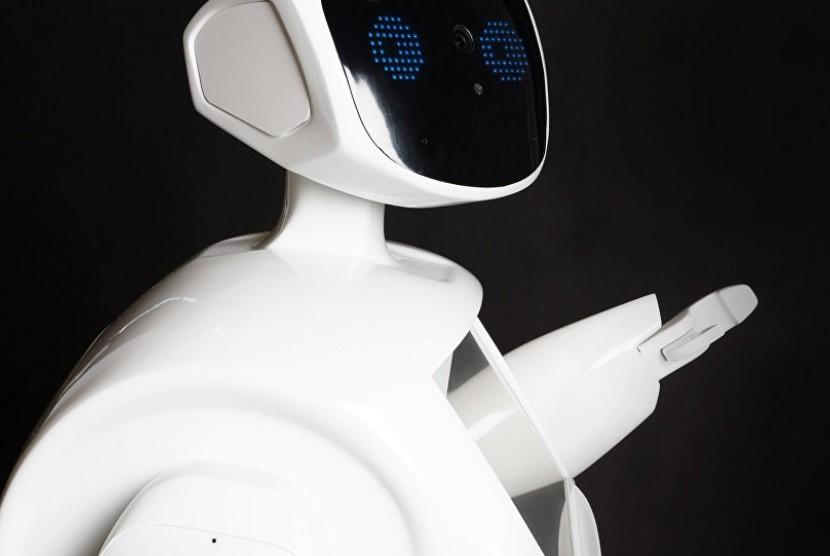Robot buatan Rusia yang bisa diajak ngobrol dan memberikan saran kepada klien.