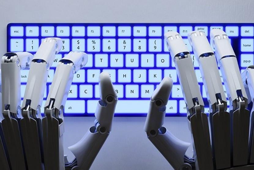 Robot menulis novel.