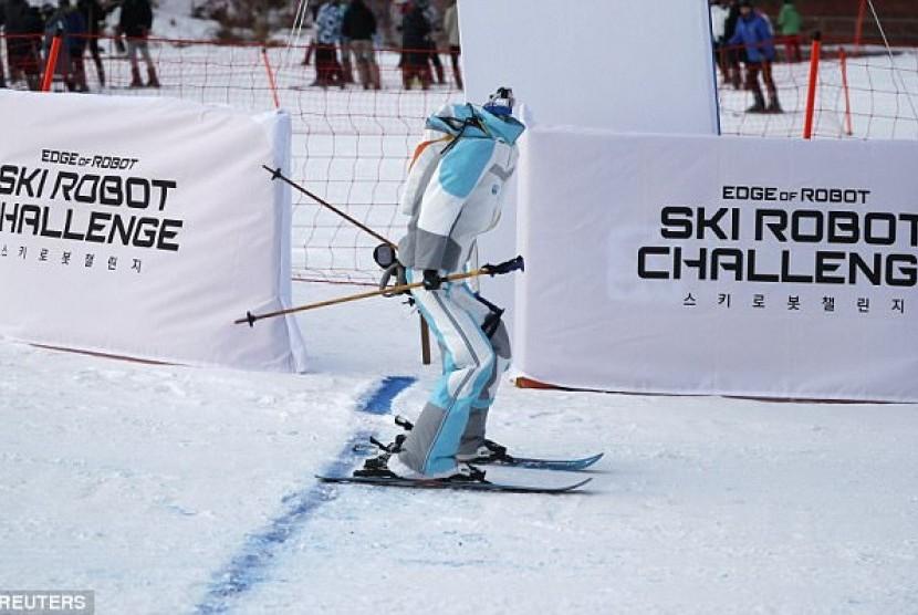 Robot Ski. Ilustrasi