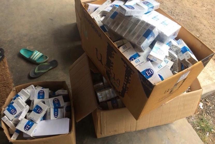 Rokok ilegal yang berhasil diamankan oleh Bea Cukai Malang.