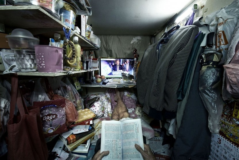 Rumah Sempit di Hong Kong Disebut Mirip Peti Mati