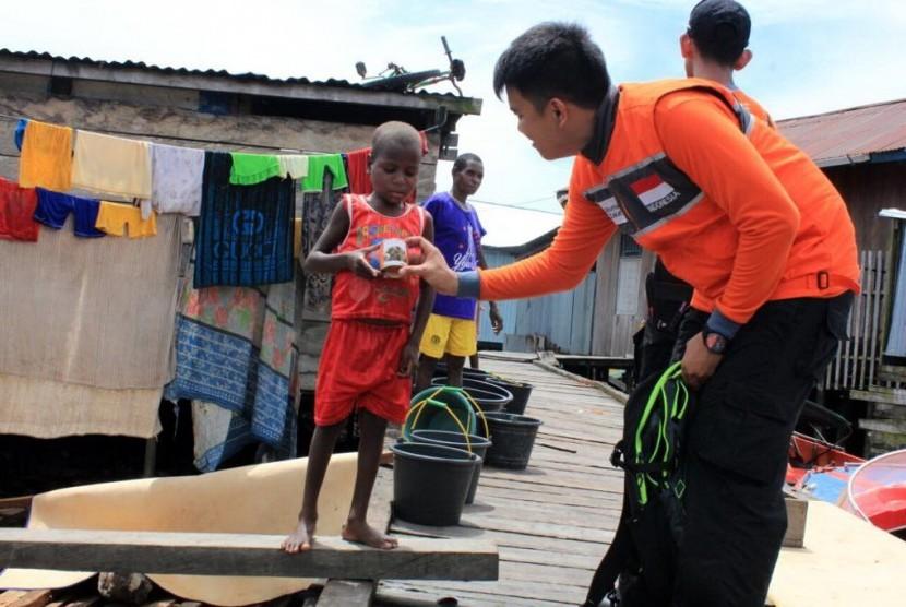 Rumah Zakat Bantu Terdampak Gizi Buruk di  Asmat