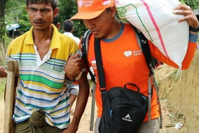 Rumah Zakat Distribusikan Bantuan ke Balukali Camp