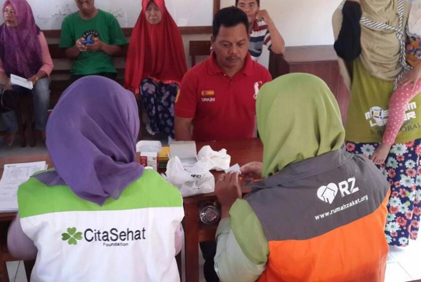 Rumah Zakat menggelar acara Siaga Sehat di Yogyakarta, belum lama ini.