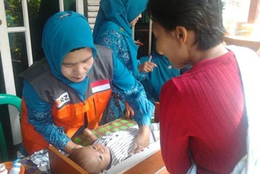 Rumah Zakat menggelar peringatan Pekan ASI Sedunia di Kota Cimahi, Jawa Barat.