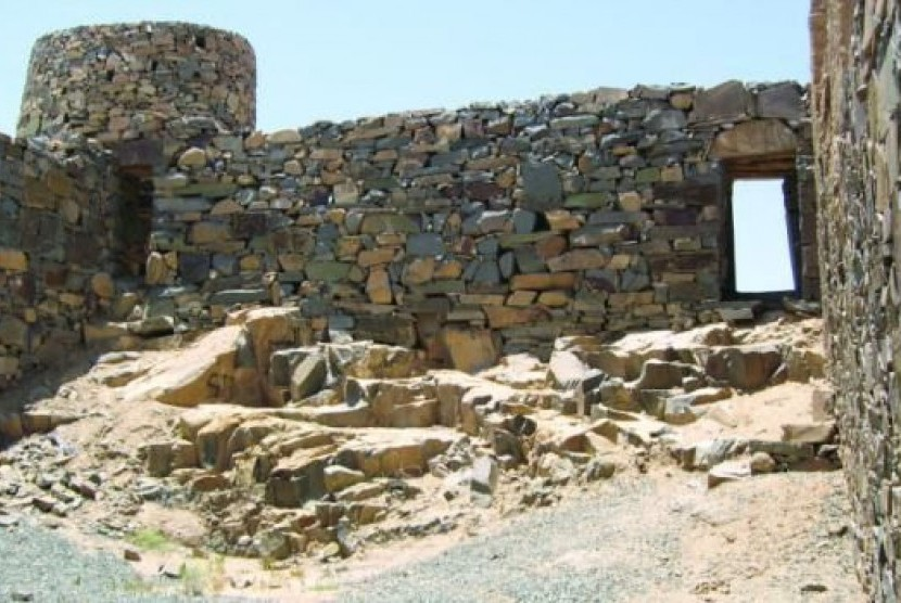Salah satu benteng di Kota Taif