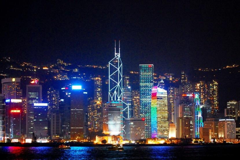 Salah satu destinasi wisata andalan Cina, Hong Kong.