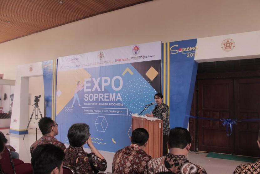 Salah satu kegiatan dalam kompetisi Sociopreneur Muda Indonesia (Soprema) 2017.