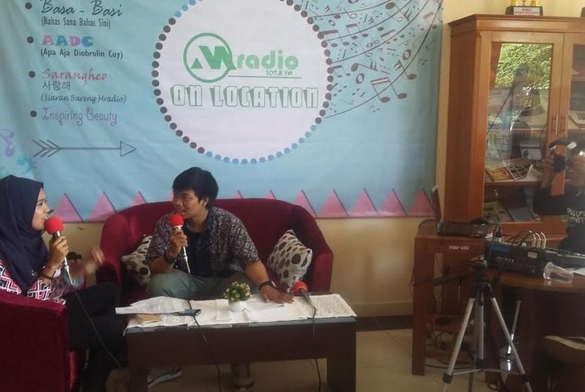 salah satu kegiatan mahasiswa ilmu komunikasi UMJ
