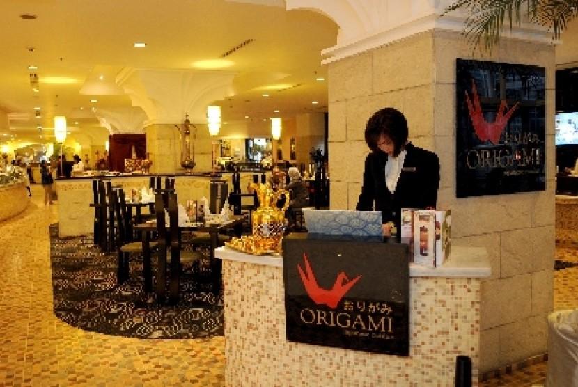 Salah satu lobi hotel berbintang di Jakarta.