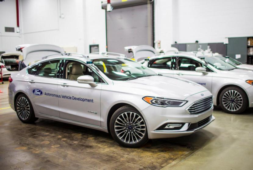 Salah satu model mobil otonom dari Ford (Ilustrasi)