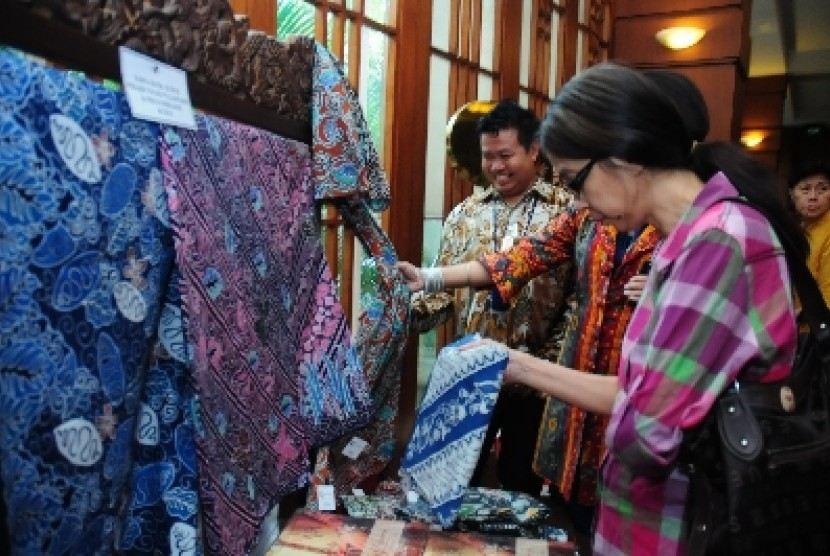 Salah satu pameran kain batik Kudus.