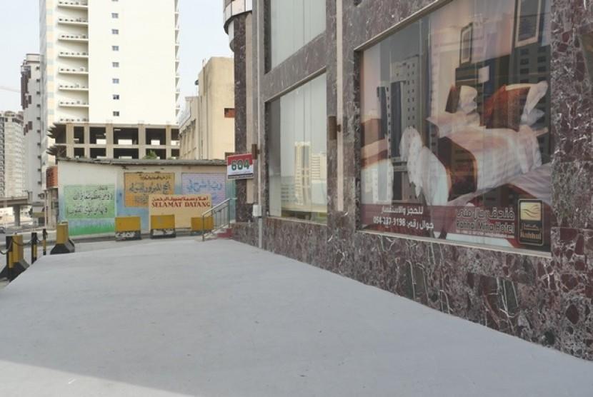 Salah satu pemondokan haji yang berada di Kawasan Syisya, Makkah