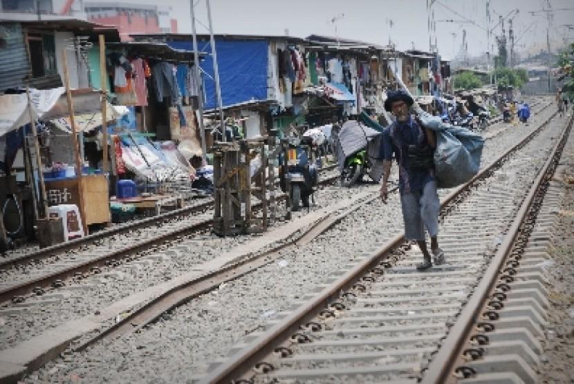 Salah satu potret kemiskinan di ibukota (ilustrasi).