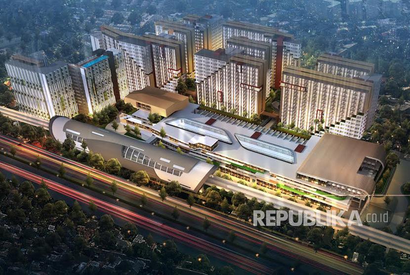 LRT City Sentul launching Area Komersial Tiga Lantai