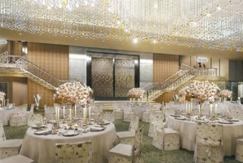 Salah satu ruang makan rumah 'Antilia', milik Mukesh Ambani.