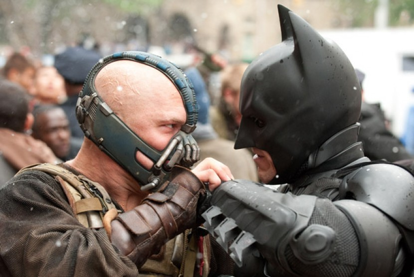 Salah satu scene dalam film Batman The Dark Night Rises.