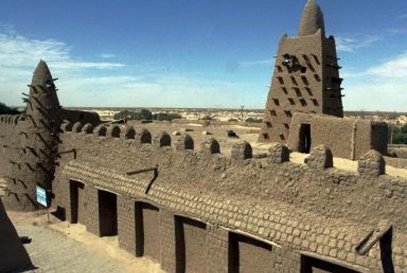 Salah satu situs islam di Timbuktu, Mali