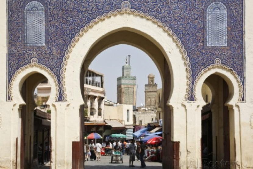 Salah satu sudut Kota Fez, Maroko.