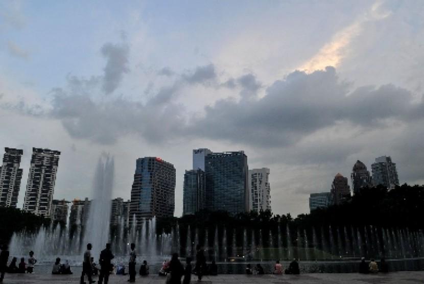 Salah satu sudut Kota Kuala Lumpur, Malaysia.