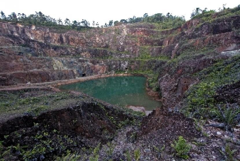 Salah satu tambang timah di Kepulauan Bangka Belitung.
