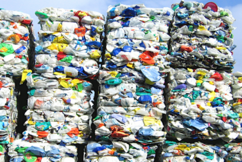 Sampah plastik. Ilustrasi