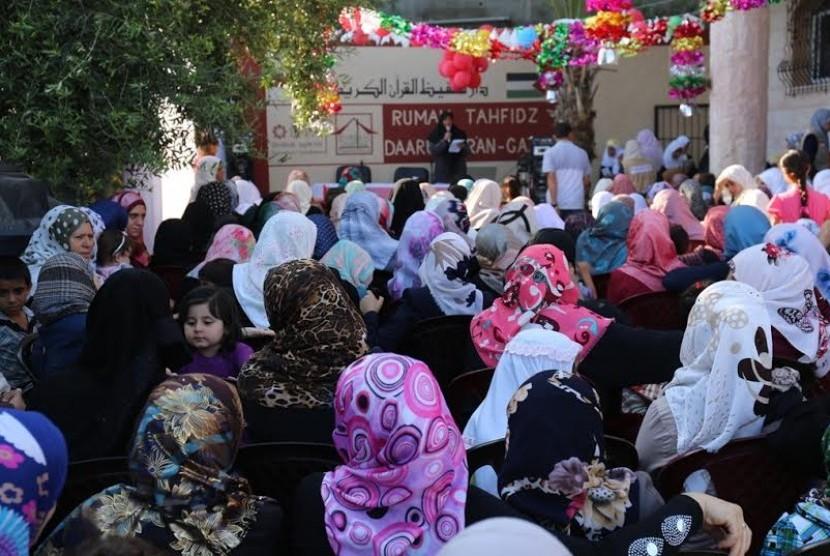 Santri Daarul Qur'an Gaza Gelar Aksi Bebaskan Yerusalem