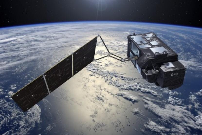 Satelit Sentinel-3A milik Eropa.