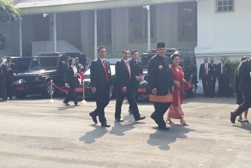 SBY dan Ibu Ani Yudhoyono hadiri upacara peringatan HUT Kemerdekaan RI