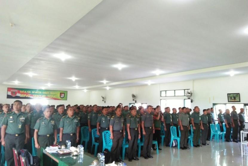Sebanyak 188 kasiter, pasiter, dan babinsa Se-provinsi Sulawesi Selatan dan Barat (Sulselbar)  mengikuti pelatihan kader pembina wisata matematika bela negara (WMBN).
