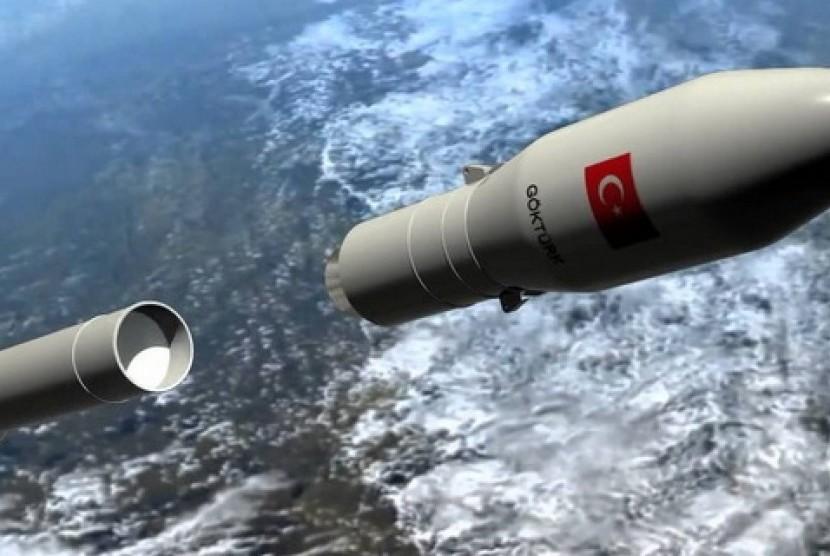 Sebuah gambar rencana roket antariksa Turki