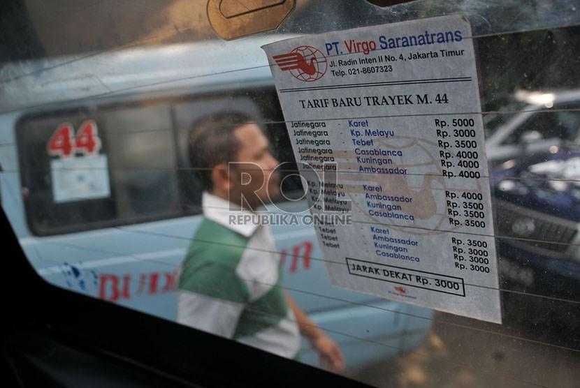 Penyesuaian tarif angkutan umum (ilustrasi)