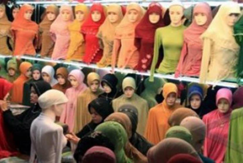 Sebuah toko khusus perlengkapan busana Muslim