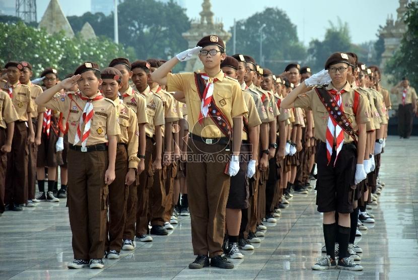Kemenag Gelar Perkemahan Pramuka Madrasah Nasional di Maluku