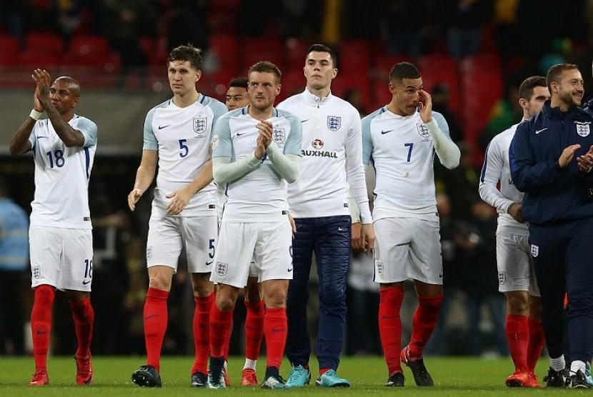 Sejumlah pemain timnas Inggris.