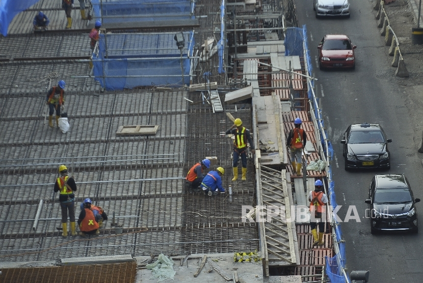 Mass Rapid Transit (MRT) project at Kyai Maja Street, South Jakarta.