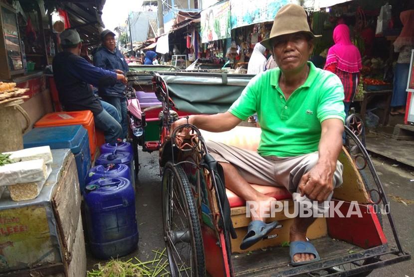 Harapan Tukang Becak untuk Gubernur Anies Baswedan