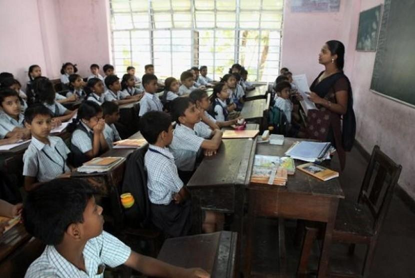 Sekolah di India (Ilustrasi)