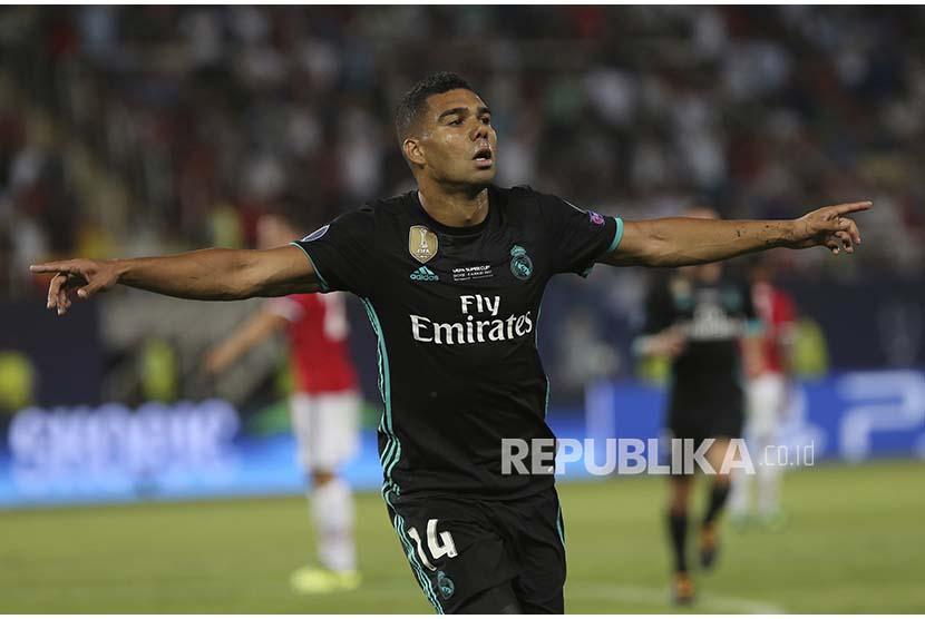 Gelandang Real Madrid Casemiro.