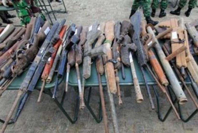 Senjata Rakitan yang disita aparat (ilustrasi)