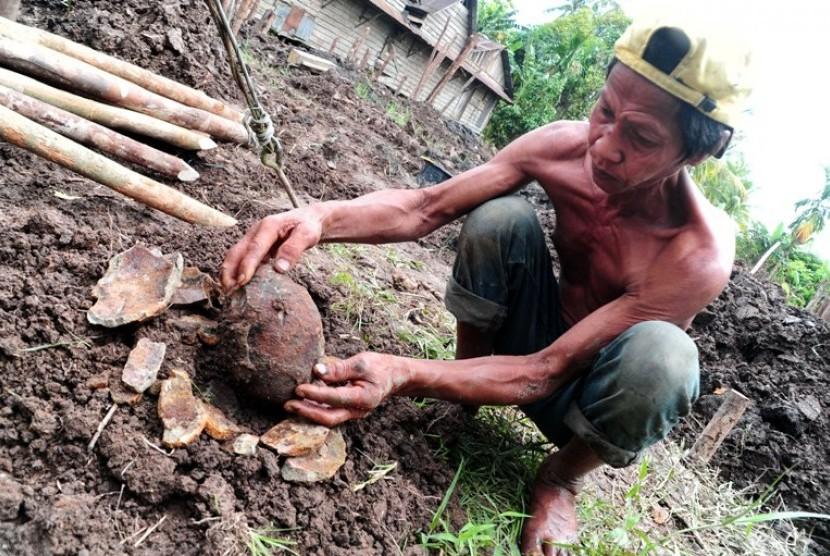 Warga Papua Temukan Bom Peninggalan Perang Dunia II
