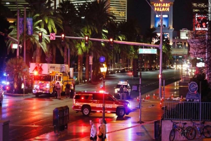 Seorang perempuan sengaja menabrakkan kendaraannya ke pejalan kaki di Las Vegas, Amerika Serikat
