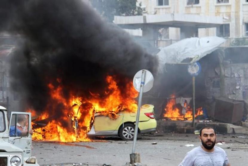 Serangan bom di Suriah (ilustrasi)