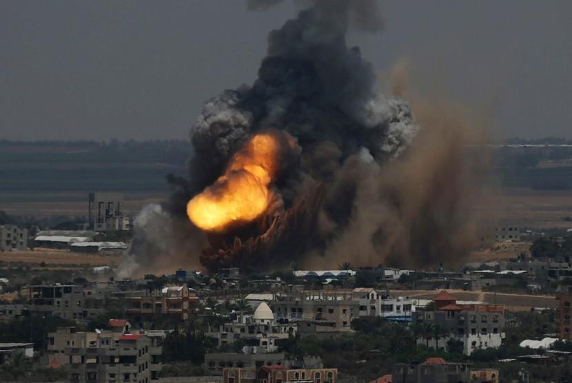 Serangan Israel Hantam Bangunan-Bangunan Milik Hamas